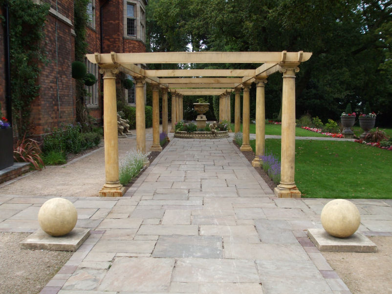 Outdoor Stone Pillars : Garden columns and pillars stone ornaments