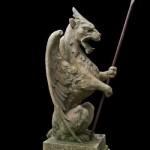 Heraldic Griffin Finial