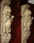 Heraldic Lion Corbel
