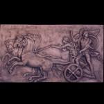 Triumphal entry by Alexandra into Babylon