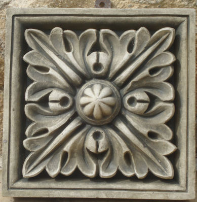 acorn wall plaque stone garden ornaments