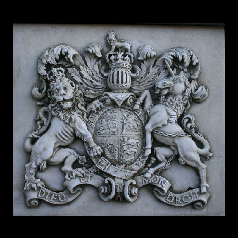 the royal crest wall plaque stone garden ornaments